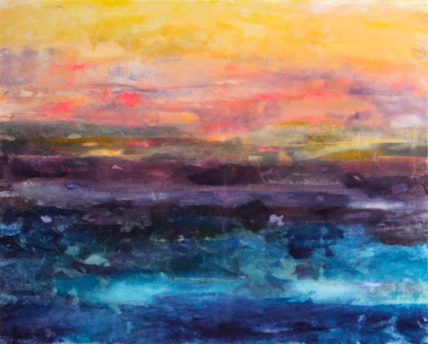 Original art for sale at UGallery.com | Dusk by JILL CONCETTA | $875 | Other media | 24' h x 30' w | ..\art\other-media-Dusk