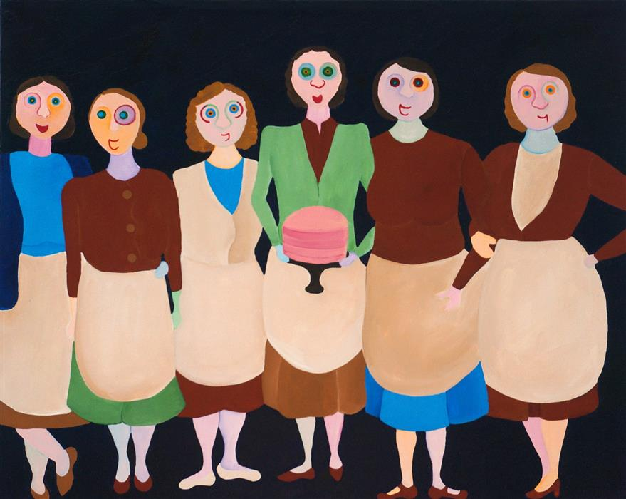Original art for sale at UGallery.com | Bakers by LUCILLE PACK | $1,525 |  | 16' h x 20' w | ..\art\acrylic-painting-Bakers