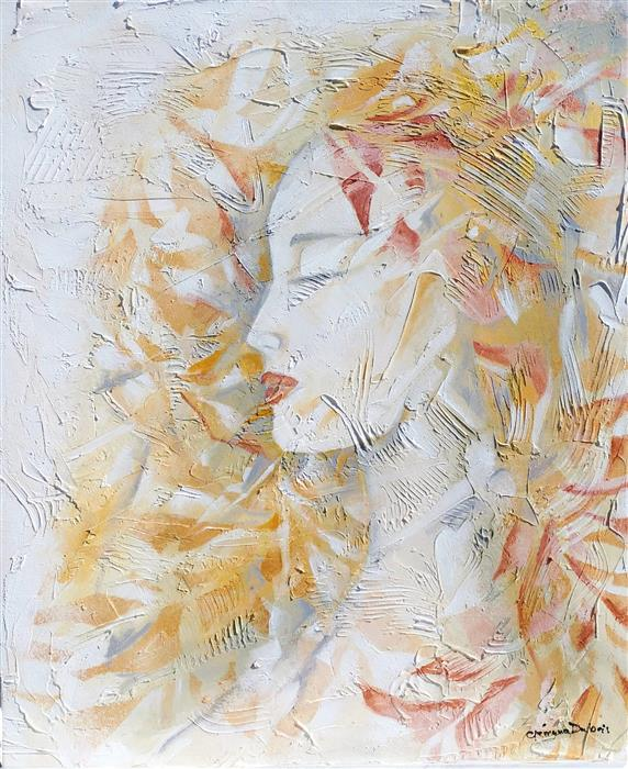 Original art for sale at UGallery.com | Sarah by CLEMENCE DUBOIS | $1,150 | Mixed media artwork | 24' h x 20' w | ..\art\mixed-media-artwork-Sarah