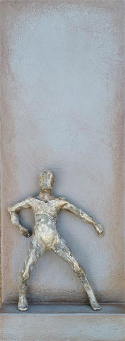 Original art for sale at UGallery.com | Small Being Standing Up by Yelitza Diaz | $500 | mixed media artwork | 20' h x 7.5' w | ..\art\mixed-media-artwork-Small-Being-Standing-Up