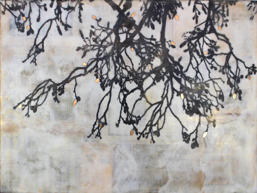 Original art for sale at UGallery.com | I Keep You in My Memory by Shannon Amidon | $1,100 | encaustic artwork | 18' h x 24' w | ..\art\encaustic-artwork-I-Keep-You-in-My-Memory