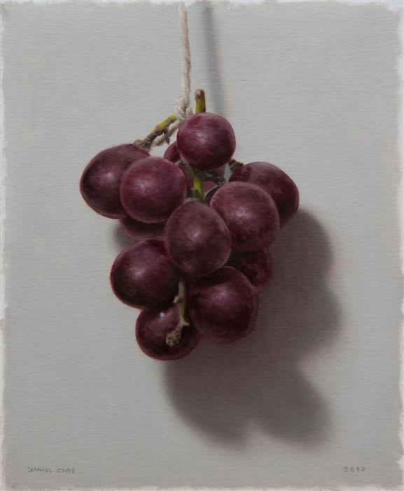 Original art for sale at UGallery.com | Grapes by DANIEL CARO | $450 |  | 7.08' h x 8.66' w | ..\art\oil-painting-Grapes-53568