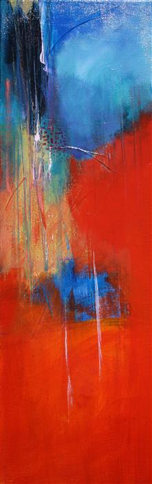 Original art for sale at UGallery.com | Reaching Up by NICHOLAS FOSCHI | $500 |  | 24' h x 8' w | ..\art\acrylic-painting-Reaching-Up