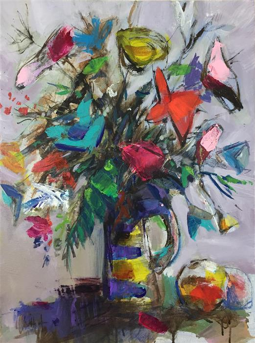Original art for sale at UGallery.com | Flowers in a Vase by ALLEN WITTERT | $1,425 |  | 24' h x 18' w | ..\art\acrylic-painting-Flowers-in-a-Vase-53643
