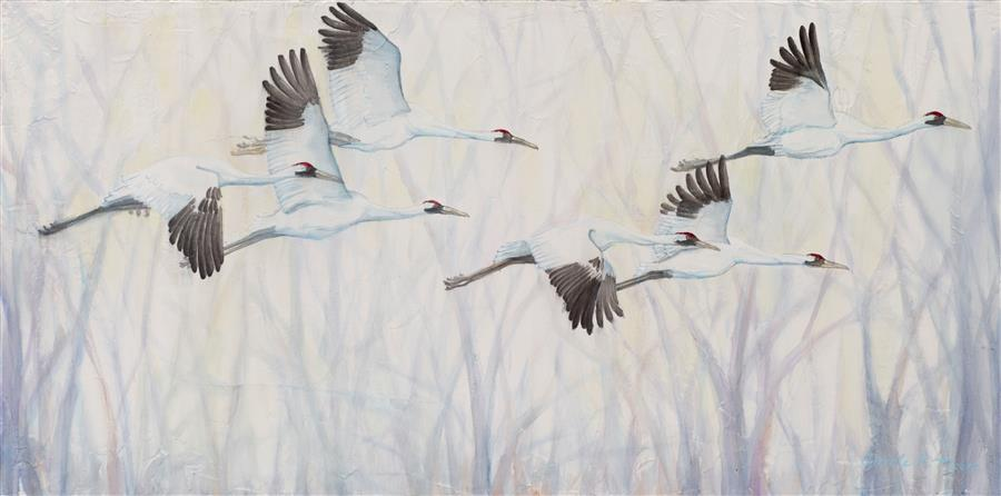 Original art for sale at UGallery.com | Flight by Carole Moore | $2,600 | acrylic painting | 24' h x 48' w | ..\art\acrylic-painting-Flight-53691