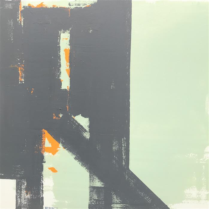 Original art for sale at UGallery.com | Orange Almost Hidden by Joey Korom | $1,200 | acrylic painting | 30' h x 30' w | ..\art\acrylic-painting-Orange-Almost-Hidden