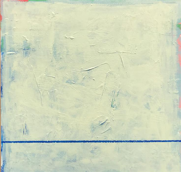 Original art for sale at UGallery.com   Blue Thread by Joey Korom   $1,300   acrylic painting   36' h x 36' w   ..\art\acrylic-painting-Blue-Thread