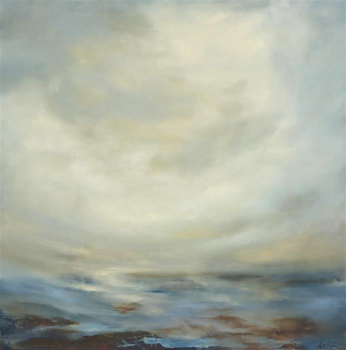 Original art for sale at UGallery.com | Crosswind by FAITH TAYLOR | $1,250 |  | 24' h x 24' w | ..\art\oil-painting-Crosswind