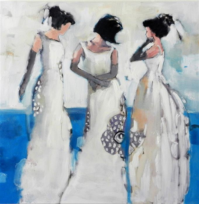 Original art for sale at UGallery.com | Elegant Blue by MARY PRATT | $3,575 |  | 48' h x 48' w | ..\art\oil-painting-Elegant-Blue