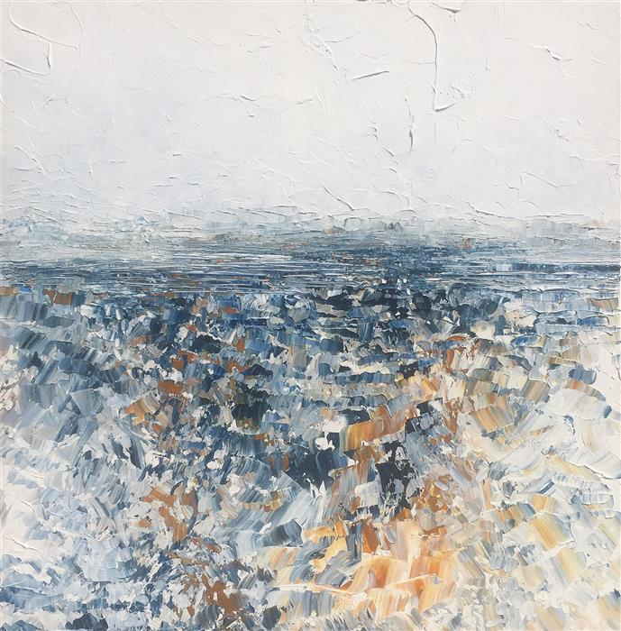 Original art for sale at UGallery.com | Lost Horizon by RUTH LAGUE | $3,750 |  | 36' h x 36' w | ..\art\acrylic-painting-Lost-Horizon
