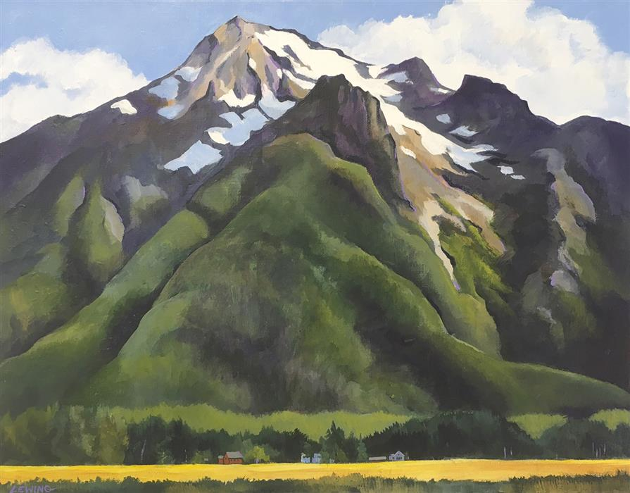 Original art for sale at UGallery.com | Whitehorse Mountain by PAUL LEWING | $725 |  | 16' h x 20' w | ..\art\acrylic-painting-Whitehorse-Mountain