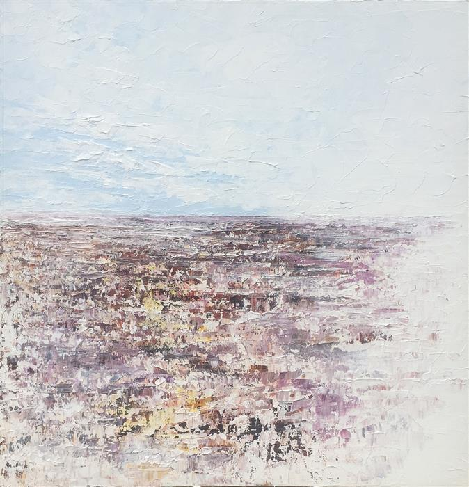 Original art for sale at UGallery.com | Ancient Valley - Ode to the Sinaqua by RUTH LAGUE | $2,700 |  | 30' h x 30' w | ..\art\acrylic-painting-Ancient-Valley-Ode-to-the-Sinaqua