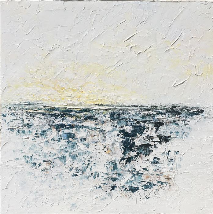 Original art for sale at UGallery.com | Dusk by RUTH LAGUE | $2,700 |  | 30' h x 30' w | ..\art\acrylic-painting-Dusk-54006