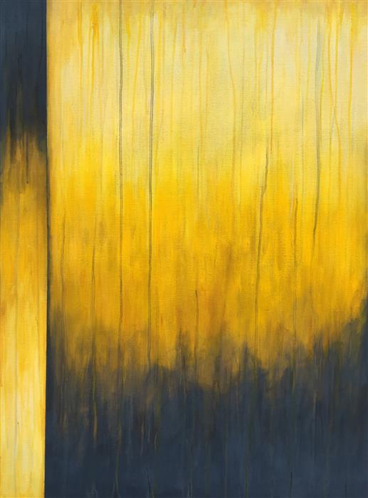 Original art for sale at UGallery.com | Diving In Yellow by MARIE-EVE CHAMPAGNE | $950 |  | 40' h x 30' w | ..\art\acrylic-painting-Diving-In-Yellow