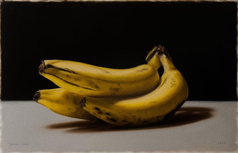 Original art for sale at UGallery.com | Bananas by DANIEL CARO | $500 | Oil painting | 7' h x 10.8' w | ..\art\oil-painting-Bananas
