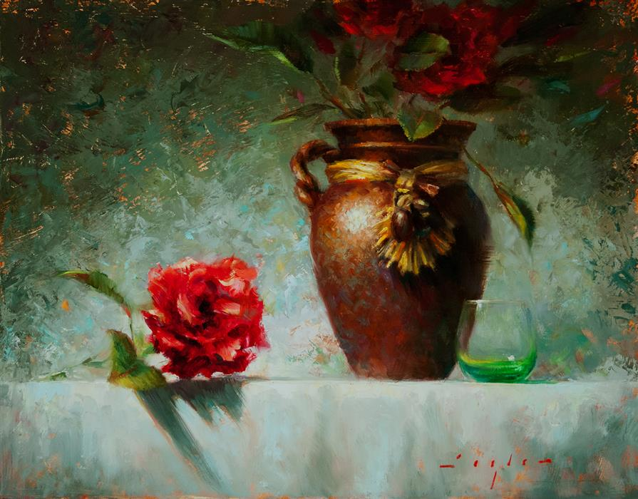 Original art for sale at UGallery.com | Ewer by KATHERINE TAYLOR | $850 | Oil painting | 11' h x 14' w | ..\art\oil-painting-Ewer