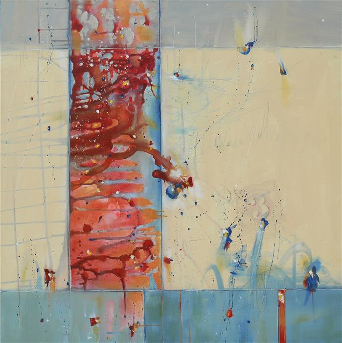 Original art for sale at UGallery.com | The Brightness of Air by CYNTHIA LIGEROS | $3,450 |  | 36' h x 36' w | ..\art\oil-painting-The-Brightness-of-Air