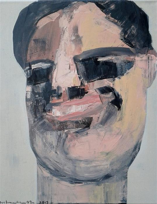 Original art for sale at UGallery.com | Laugh II, Portrait by PAULINA ARCHAMBAULT | $500 |  | 20' h x 16' w | ..\art\acrylic-painting-Laugh-II-Portrait