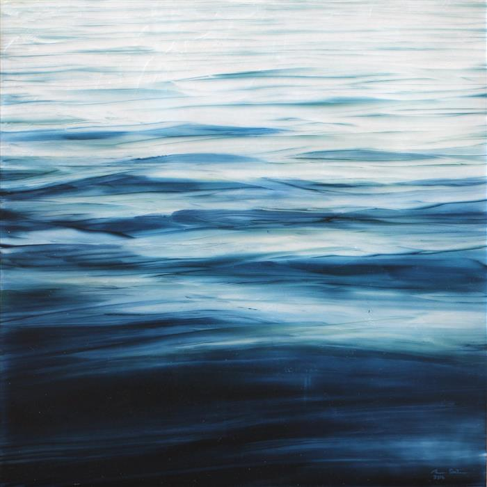 Original art for sale at UGallery.com | Ripples by BRIAN SOSTROM | $650 |  | 16' h x 16' w | ..\art\acrylic-painting-Ripples-54211