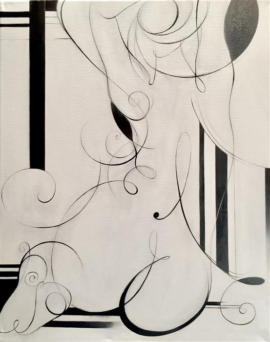 Original art for sale at UGallery.com | One Line by SUMNER CRENSHAW | $500 |  | 20' h x 16' w | ..\art\oil-painting-One-Line
