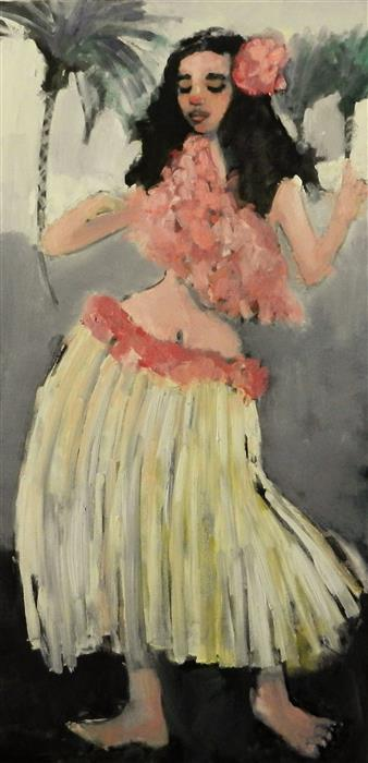 Original art for sale at UGallery.com | Hula by MARY PRATT | $2,875 |  | 48' h x 24' w | ..\art\oil-painting-Hula