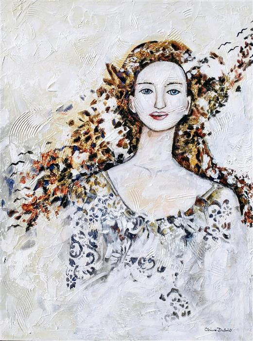 Original art for sale at UGallery.com | Victoria by CLEMENCE DUBOIS | $2,000 | Mixed media artwork | 40' h x 30' w | ..\art\mixed-media-artwork-Victoria