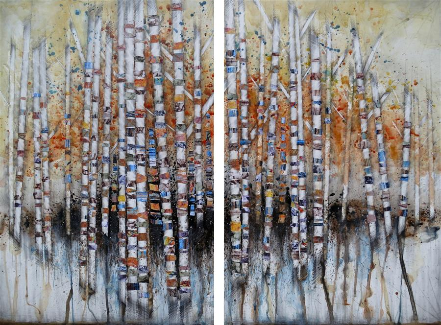Original art for sale at UGallery.com | This Buffer in Time by LINDA KLEIN | $2,975 |  | 36' h x 49' w | ..\art\mixed-media-artwork-This-Buffer-in-Time