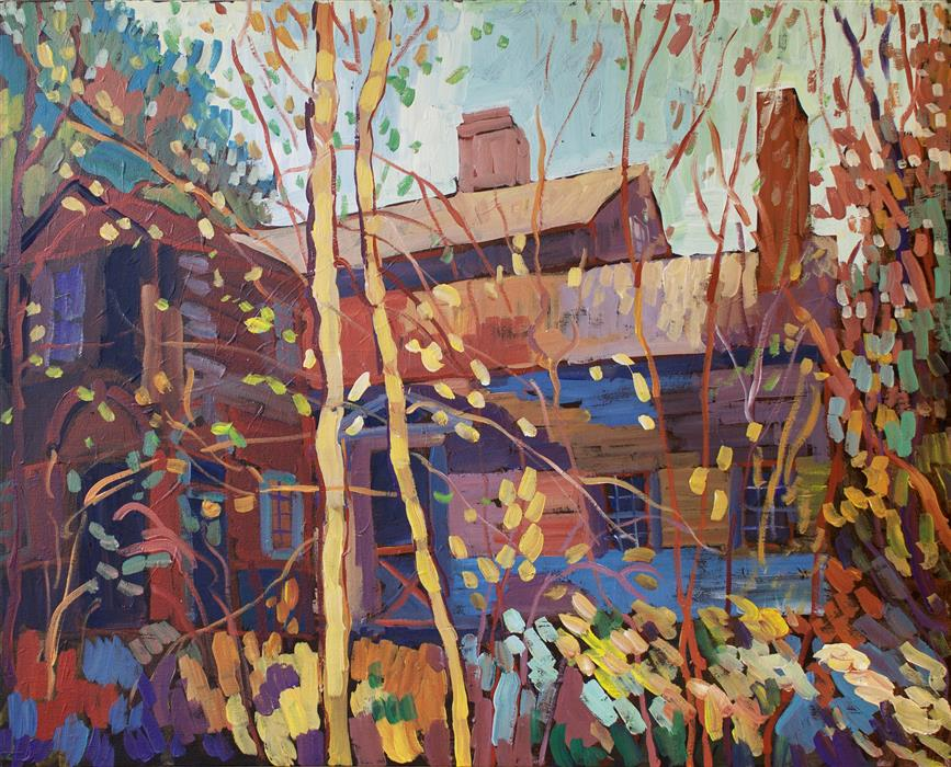 Original art for sale at UGallery.com | Somewhere in the Catskills by ROBERT HOFHERR | $875 |  | 24' h x 30' w | ..\art\acrylic-painting-Somewhere-in-the-Catskills