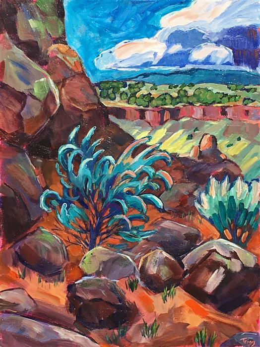 Original art for sale at UGallery.com | The First Switchback by PEGGY TRIGG | $1,100 |  | 24' h x 18' w | ..\art\acrylic-painting-The-First-Switchback
