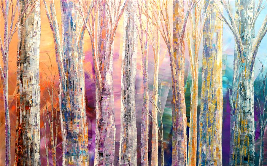 Original art for sale at UGallery.com | Spells of Enchantment by Tatiana Iliina | $3,850 | acrylic painting | 30' h x 48' w | ..\art\acrylic-painting-Spells-of-Enchantment