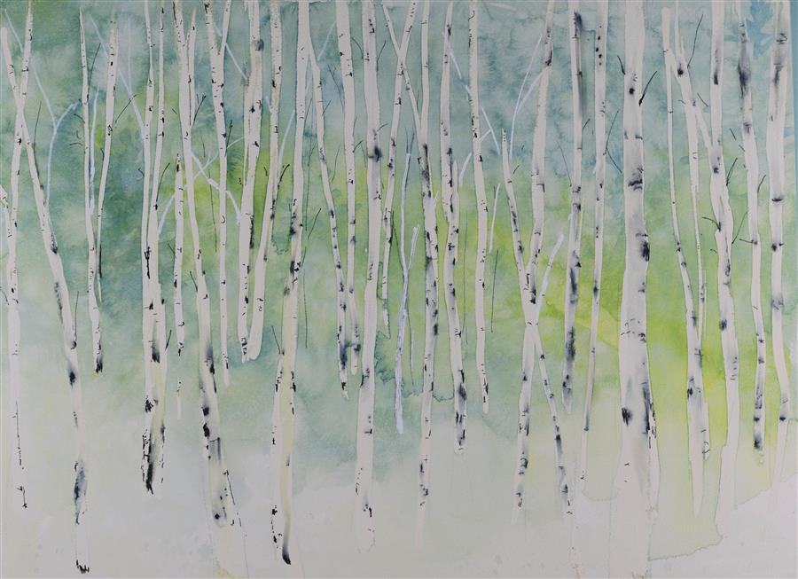 Original art for sale at UGallery.com | Looking for Space by TAMARA GONDA | $425 |  | 11' h x 15' w | ..\art\watercolor-painting-Looking-for-Space