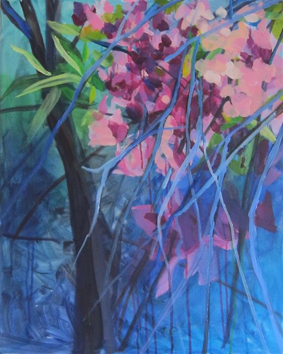 Original art for sale at UGallery.com | Summer Blossoms by COLETTE WIRZ NAUKE | $1,175 |  | 30' h x 24' w | ..\art\acrylic-painting-Summer-Blossoms
