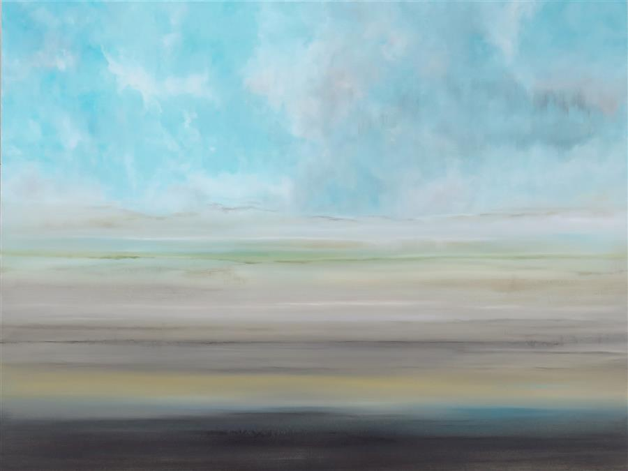 Original art for sale at UGallery.com | Seaside Dream by JENN WILLIAMSON | $2,475 |  | 36' h x 48' w | ..\art\acrylic-painting-Seaside-Dream