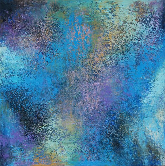 Original art for sale at UGallery.com | AL-T by Janet Hamilton | $2,900 | oil painting | 36' h x 36' w | ..\art\oil-painting-AL-T