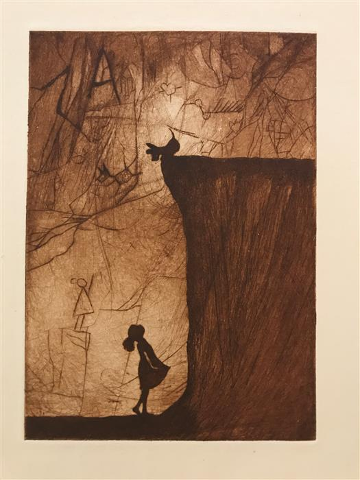 Original art for sale at UGallery.com | Lovers Leap by DOUG LAWLER | $325 |  | 10' h x 8' w | ..\art\printmaking-Lovers-Leap