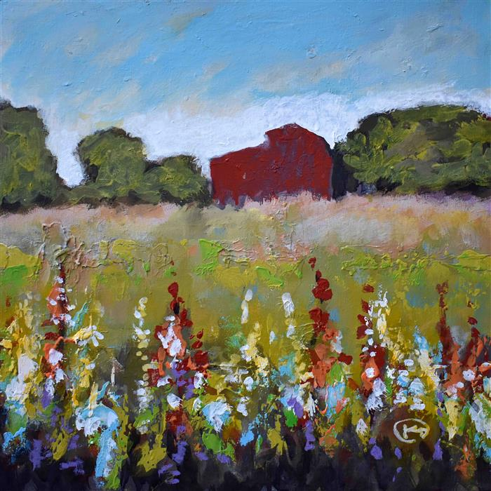 Original art for sale at UGallery.com | Hill Country Barn by KIP DECKER | $1,050 |  | 20' h x 20' w | ..\art\acrylic-painting-Hill-Country-Barn