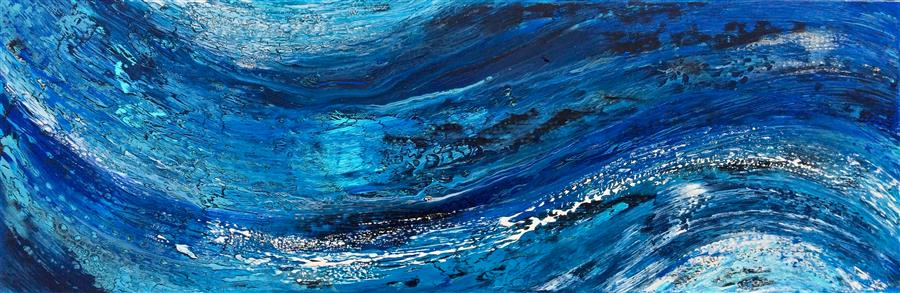 Original art for sale at UGallery.com | Ecstatic Motion by ALICIA DUNN | $1,075 |  | 12' h x 36' w | ..\art\acrylic-painting-Ecstatic-Motion