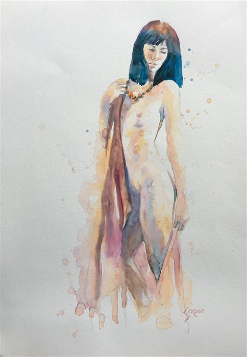 Original art for sale at UGallery.com | Sable by PATRICK SOPER | $825 |  | 22' h x 15' w | ..\art\watercolor-painting-Sable
