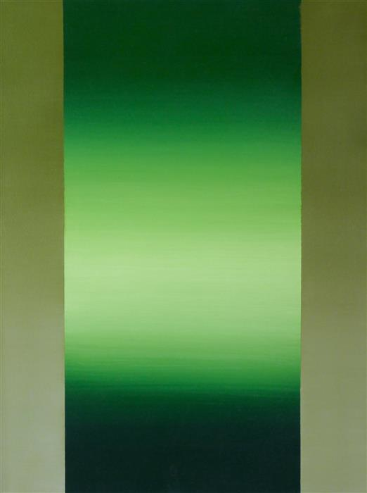 Original art for sale at UGallery.com | Bright Green by HEIDI HYBL | $925 |  | 24' h x 18' w | ..\art\oil-painting-Bright-Green