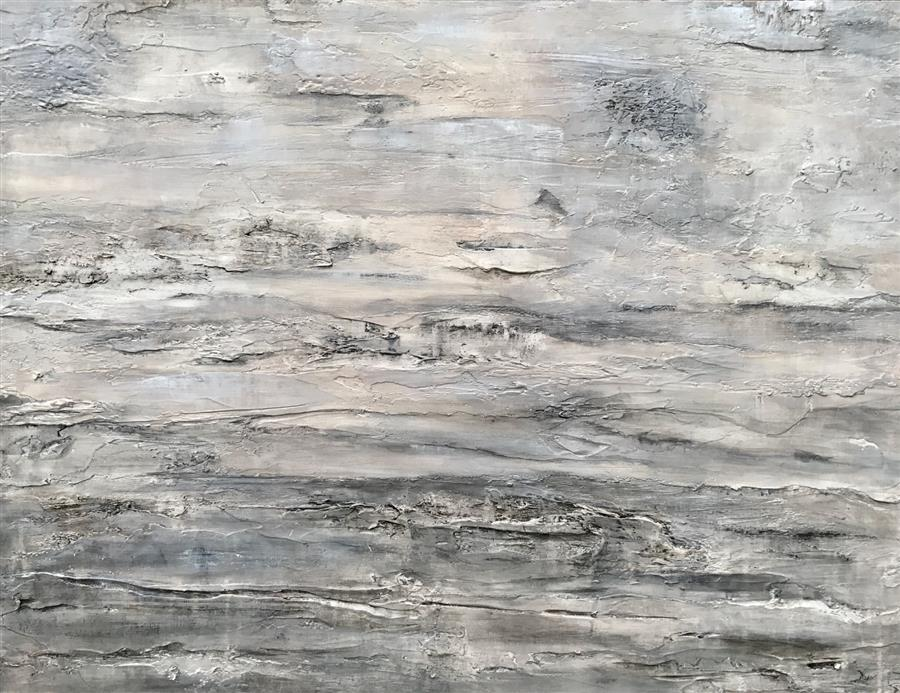 Original art for sale at UGallery.com | Things Standing Still: Cloudy by MAYA MALIOUTINA | $2,700 |  | 30' h x 40' w | ..\art\acrylic-painting-Things-Standing-Still-Cloudy