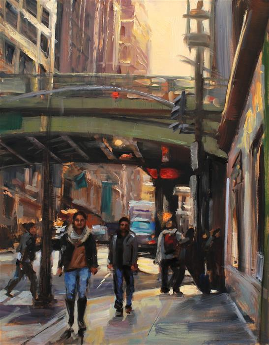 Original art for sale at UGallery.com | Near Grand Central Station by JONELLE SUMMERFIELD | $700 |  | 14' h x 11' w | ..\art\oil-painting-Near-Grand-Central-Station