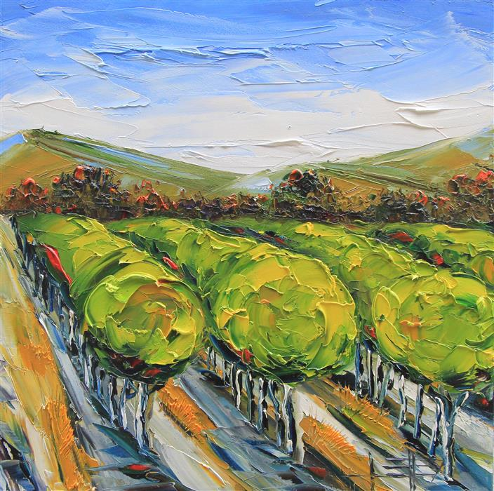 Original art for sale at UGallery.com | Napa Valley in the Summer by LISA ELLEY | $675 |  | 20' h x 20' w | ..\art\oil-painting-Napa-Valley-in-the-Summer