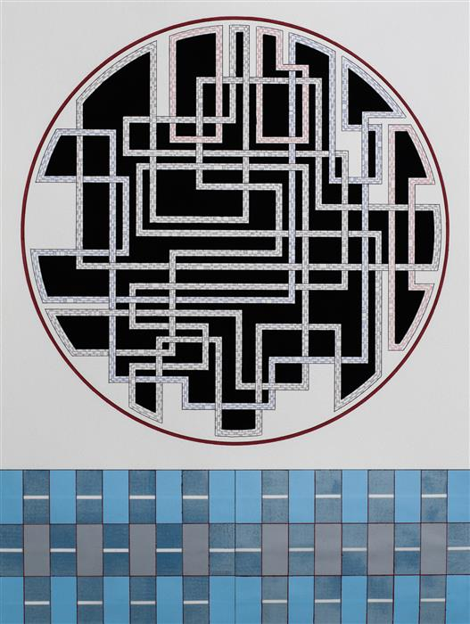 Original art for sale at UGallery.com | Circuit by JACOB ROWAN | $425 |  | 24' h x 18' w | ..\art\acrylic-painting-Circuit