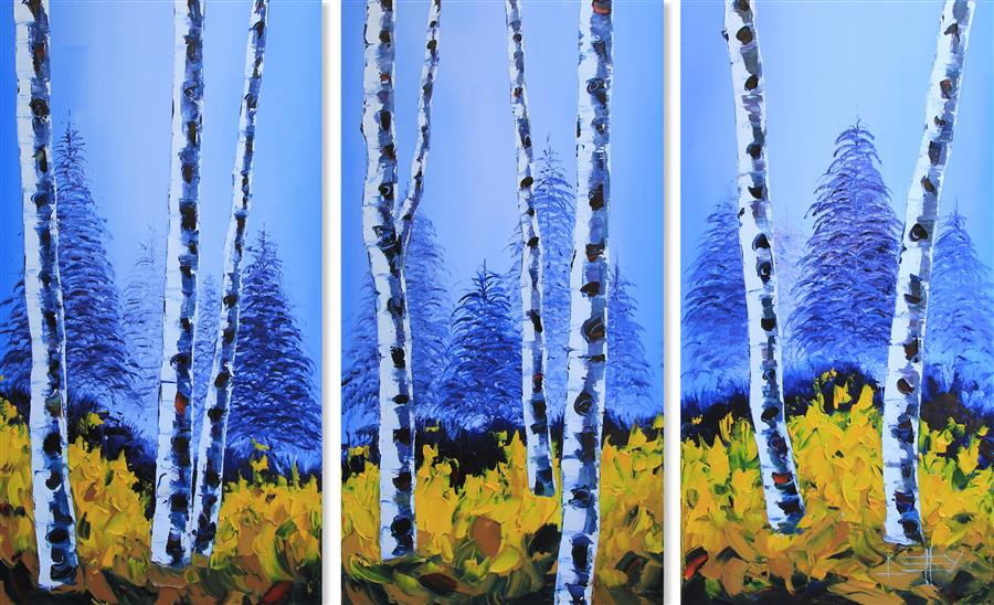 Original art for sale at UGallery.com | Enchanting Fall by LISA ELLEY | $3,900 |  | 48' h x 72' w | ..\art\oil-painting-Enchanting-Fall