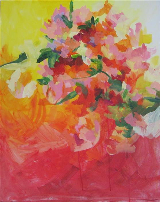 Original art for sale at UGallery.com | Sunshine In Bloom by COLETTE WIRZ NAUKE | $1,175 |  | 30' h x 24' w | ..\art\acrylic-painting-Sunshine-In-Bloom