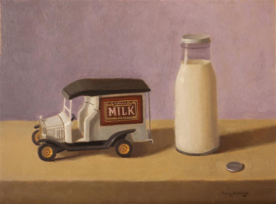 Original art for sale at UGallery.com | Got Milk? by JOSE H. ALVARENGA | $750 |  | 12' h x 16' w | ..\art\oil-painting-Got-Milk