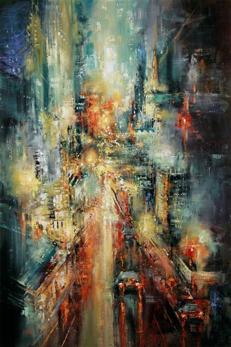 Original art for sale at UGallery.com | Until Tomorrow by SANDRA ZEKK | $3,350 |  | 48' h x 32' w | ..\art\oil-painting-Until-Tomorrow