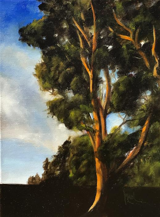 Original art for sale at UGallery.com | Eucalyptus IV by MANDY MAIN | $450 |  | 12' h x 9' w | ..\art\oil-painting-Eucalyptus-IV