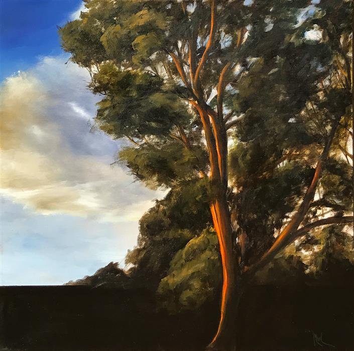 Original art for sale at UGallery.com | Eucalyptus III by MANDY MAIN | $975 |  | 24' h x 24' w | ..\art\oil-painting-Eucalyptus-III