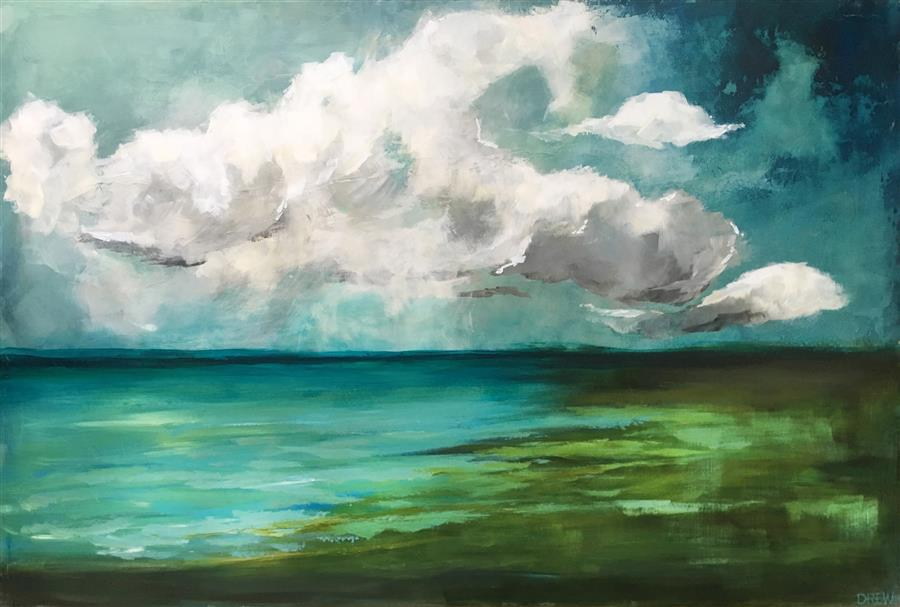 Original art for sale at UGallery.com | Solitary Moment by DREW NOEL MARIN | $1,300 |  | 24' h x 36' w | ..\art\acrylic-painting-Solitary-Moment